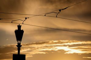lamp by sunset by torobala