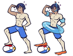 Beach Hunk Chrom by SonicRocksMySocks