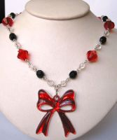 Bow Necklace by cherryboop