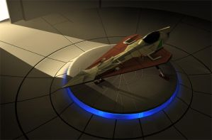 Jedi Starfighter Hangar by cambodia300