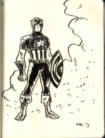 captain america by erspears