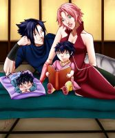 SasuSaku: Family Portrait by carapau