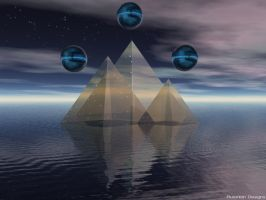 Water Pyramids by Phoenixel-AB