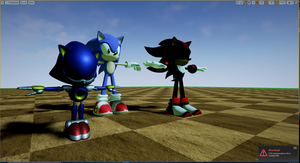 Metal Sonic and Shadow with extra texture detail by RebornBeatz