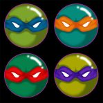 TMNT 1'' Buttons by MadMouseMedia