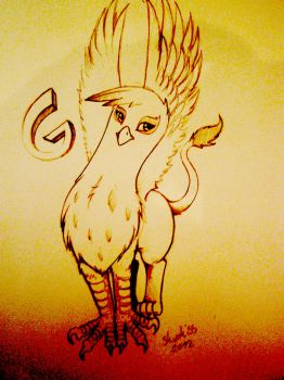 gilda the griffon sketch by Skunkiss