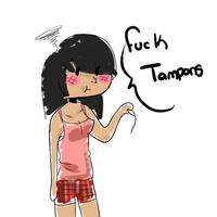Fuck Tampons by FluffehButt