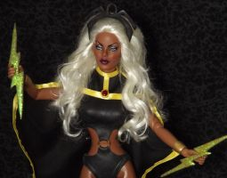 Custom OOAK Marvel Storm Doll by ShannonCraven