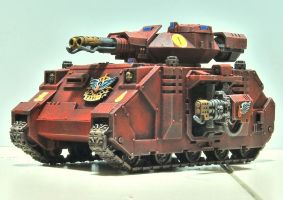 Blood Angels Baal Predator by JaWzY83
