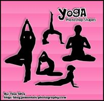 Yoga Photoshop Custom Shapes by darkmis29