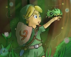 Link and Spinarak by Jo-Onis