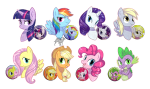 PONY BUTTON BADGES -For sale- by shazy
