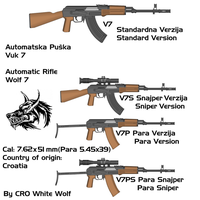 Vuk 7 weapons by crowhitewolf