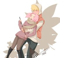 NaruSaku - Autumn Embrace by NightLiight