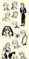 Prince Adam Sketchdump by Madame-Kikue
