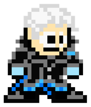 Vergil (DmC: Devil May Cry) - MegaMan Style by MaikeruThePlayer