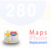 Maps iPhone replacement icon by iamjustin44