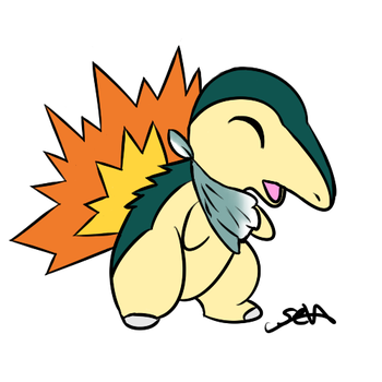 Cyndaquil for SiggyDerp by SevenUpPony