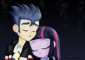 Flash and Twilight_ sleeping under the stars. by jucamovi1992