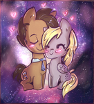 The Doctor and Derpy by Velexane