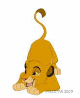Playful Simba - clip art- by KaiserTiger