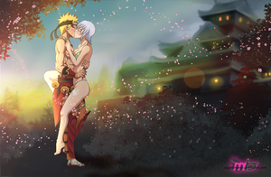 Commission: Naruto and Lisanna by R-Legend