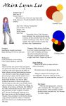 Character Page: Akira Lynn Leo by MoonCrazed