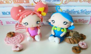 Doremi and Aiko (fimo) by NekoIsy
