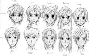 Original characters for manga by deadoralivex29