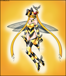 commission -  Moon bee by Rosvo