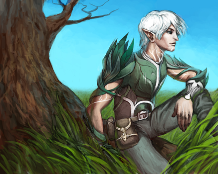 Lonely Fenris by a-stepchen