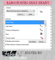 Albook Mini gray Heart by fabii27