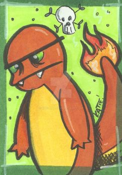 Charmander - ATC by K8e-Art