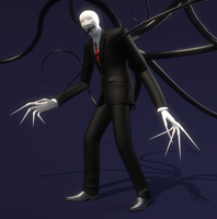Slender man angry mood by half-rose