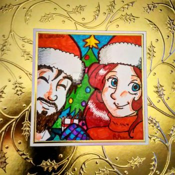 Christmas Cards 2016 - Me and Lee by LadyIonia