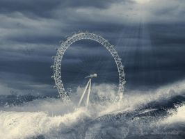 Floods - London Eye by arthame