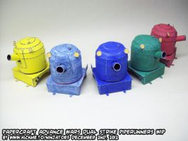 Papercraft Advance Wars DS Piperunners by ninjatoespapercraft