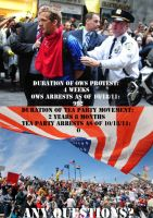 T Party vs OWS Arrests by BluePhoenixx