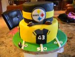 Steelers Birthday Cake-Fondant-Handmade-Football by ThePetiteShop