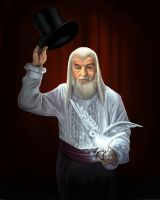 Gandalf's Magic Trick by aragornbird
