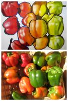 Peppers photo and painting by sssmokeandmirrorsss