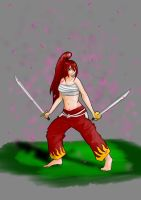Erza Scarlet Japanese Cloth by r4mp4g6