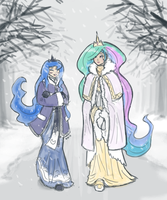 Winter Princesses by King-Kakapo