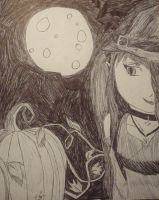 Late Halloween Drawing xDD by caged-birds