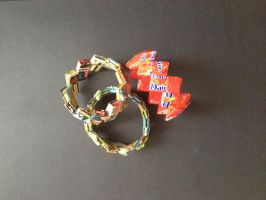 Bracelet, braided paper 03 by SecondChanceCrafts