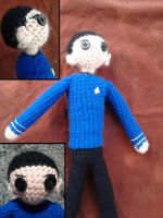 Mr Spock Amigurumi by KnotInTheCoffin