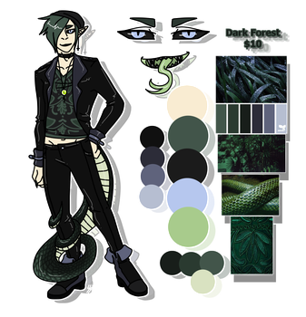 Dark Forest - Revealed - Aesthetic Adoptable by Mizuki-Cho