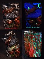 Nasty Evil Witch Zippo by Undead Ed Glows in the D by Undead-Art