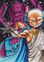 Watcher and Galactus by DavePLynch