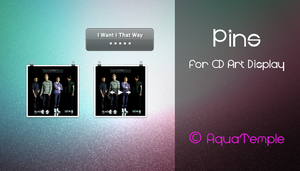 Pins for CD Art Display by AquaTemple